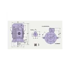 AEVFB AC Induction Motor with DC Brake Dimensions-2